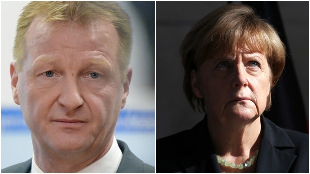 Germany - Interior Minister - Ralf Jäger and Angela Merkel
