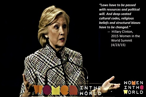 BE FUNKY screenshot hillary clinton 2015 women in the world summit SEPIA 492 X 326