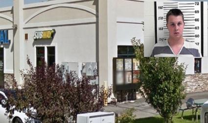 Subway drive thru Layton Utah where employee Tanus Ukena laced police officer's beverage