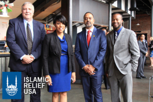 Mayor Rawlings-Blake with her pals at Islamic Relief USA. She has been a leading proponent of bringing more Muslim refugees to Baltimore.