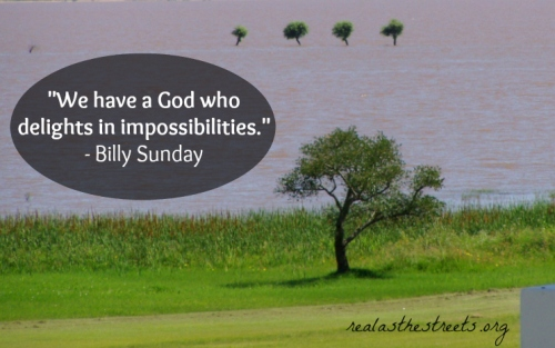 impossibility tree and flood and a billy sunday quote