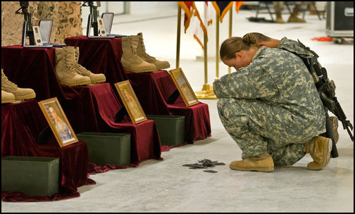 Troops paying their final respects. (Photo: Public Domain)