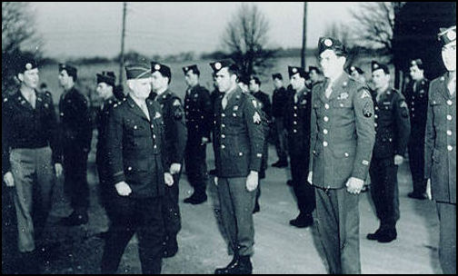 General William J. Donovan, OSS founder, reviews Operational Group members in Bethesda, Maryland. (Photo: Public Domain)