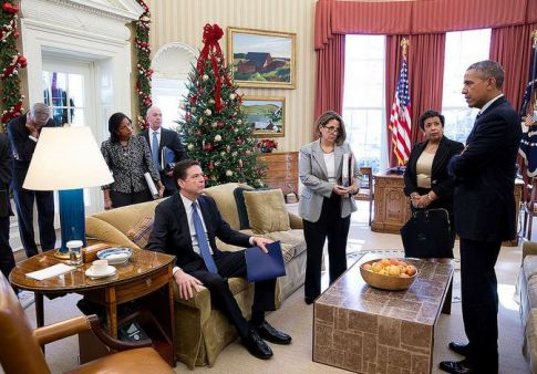 james-comey-barack-obama-susan-rice-and-loretta-lynch-looks-like-obama-is-reading-comey-the-riot-act-photo-12032015-flickr-white-house-photo-stream